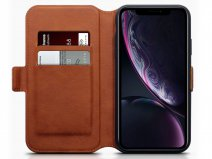 CaseBoutique Wallet Cognac Leer - iPhone XR hoesje