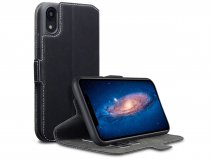 CaseBoutique Slim Wallet Zwart - iPhone XR hoesje