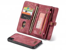 CaseMe 2in1 Wallet Ritsvak Case Rood - iPhone XR Hoesje