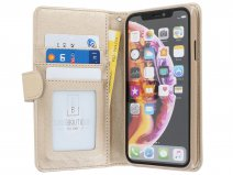 Zip Wallet Case Goud - iPhone XR hoesje