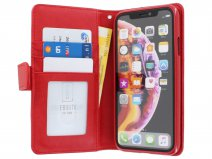 Zip Wallet Case Rood - iPhone XR hoesje