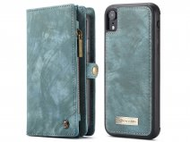 CaseMe 2in1 Wallet Ritsvak Case Blauw - iPhone XR Hoesje