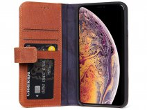 Decoded Drop Protection Wallet Bruin Leer - iPhone XR Hoesje