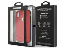 Ferrari Heritage Hard Case Rood - iPhone XR Hoesje Leer