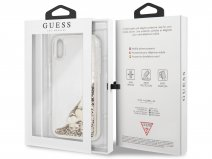 Guess Floating Logo Case Goud - iPhone XR hoesje