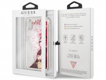 Guess Floating Logo Case Roze - iPhone XR hoesje