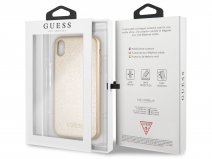 Guess Iridescent Case Goud - iPhone XR hoesje