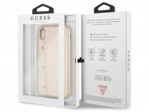 Guess Kaia Studs Case Goud - iPhone XR hoesje