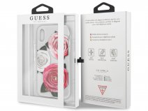 Guess Pink Roses TPU Skin - iPhone XR hoesje