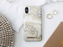 iDeal of Sweden Case Sparkle Greige Marble - iPhone XR hoesje