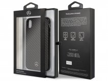 Mercedes-Benz Carbon Fiber Case - iPhone XR Hoesje