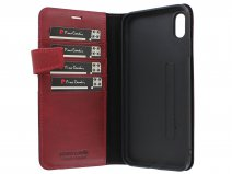 Pierre Cardin Bookcase Rood Leer - iPhone XR hoesje
