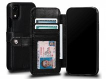 Sena Classic Wallet Book Zwart - iPhone XR Hoesje Leer