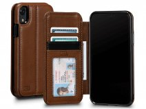 Sena Deen Wallet Book Bruin - iPhone XR Hoesje Leer