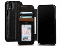 Sena Deen Wallet Book Zwart - iPhone XR Hoesje Leer