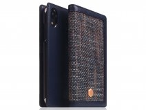 SLG Design D5 CSL Navy Leer - iPhone XR hoesje