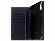 SLG Design D8 Folio Dark Blue Leer - iPhone XR hoesje