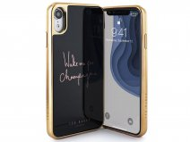 Ted Baker Champagne HD Glass Case - iPhone XR Hoesje