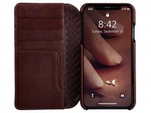 Vaja Wallet Agenda Case Bruin - iPhone XR Hoesje Leer
