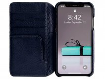 Vaja Wallet Agenda Case Navy - iPhone XR Hoesje Leer