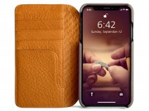 Vaja Wallet Agenda Case Grijs - iPhone XR Hoesje Leer
