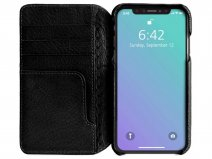 Vaja Wallet Agenda Case Zwart - iPhone XR Hoesje Leer