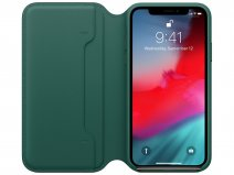 Apple Leather Folio Case Forest Green - iPhone Xs hoesje