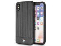 BMW Signature Leather Case Zwart Leer - iPhone X/Xs Hoesje