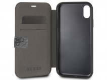 Guess Monogram Bookcase Grijs - iPhone X/Xs hoesje