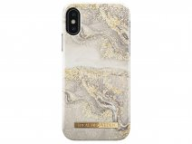 iDeal of Sweden Case Sparkle Greige Marble - iPhone X/Xs hoesje