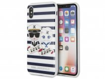 Karl Lagerfeld & Choupette Sailors TPU Case - iPhone X/Xs hoesje
