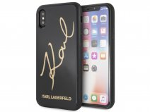 Karl Lagerfeld Signature HD Glass Case - iPhone X/Xs hoesje