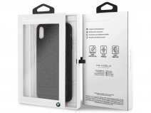 BMW Hexagon Case Zwart Leer - iPhone Xs Max hoesje
