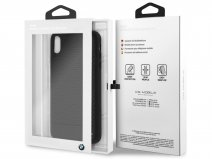 BMW Parforated Case Zwart Leer - iPhone Xs Max hoesje