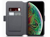 CaseBoutique Wallet Grijs Leer - iPhone Xs Max hoesje
