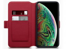 CaseBoutique Wallet Rood Leer - iPhone Xs Max hoesje
