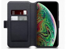 CaseBoutique Wallet Zwart Leer - iPhone Xs Max hoesje