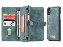 True Wallet Case Ritsvak Blauw - iPhone Xs Max hoesje