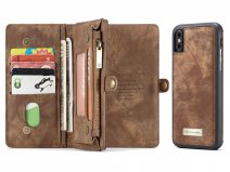 True Wallet Case Ritsvak Bruin - iPhone Xs Max hoesje