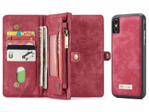 True Wallet Case Ritsvak Rood - iPhone Xs Max hoesje