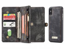 True Wallet Case Ritsvak Zwart - iPhone Xs Max hoesje