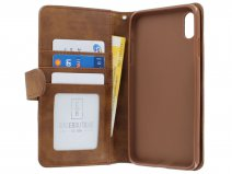 Zip Wallet Case Bruin - iPhone Xs Max hoesje