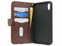 Pocket Wallet Bookcase Bruin - iPhone Xs Max hoesje