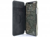 Greenwich Blake Folio Beach House/Gunmetal - iPhone Xs Max Hoesje Leer