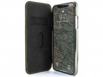Greenwich Blake Folio Canary/Gunmetal - iPhone Xs Max Hoesje Leer