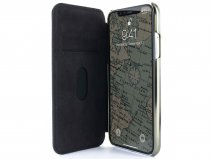 Greenwich Walker Folio - Alcantara iPhone Xs Max hoesje
