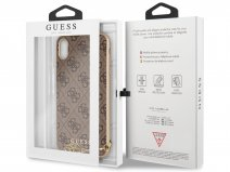 Guess Monogram Charm Case Bruin - iPhone Xs Max hoesje