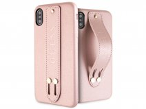 Guess Iridescent Strap Case Rosé - iPhone Xs Max hoesje