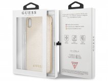 Guess Iridescent Case Goud - iPhone Xs Max hoesje