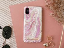 iDeal of Sweden Case Golden Blush Marble - iPhone Xs Max hoesje